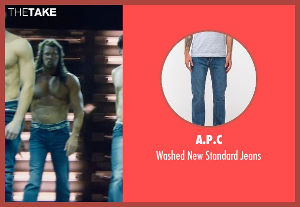 A.P.C blue jeans from Magic Mike XXL seen with Kevin Nash (Tarzan)