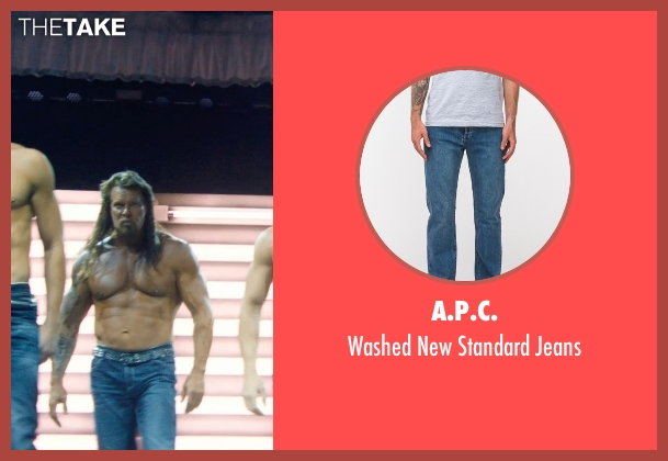A.P.C. blue jeans from Magic Mike XXL seen with Kevin Nash (Tarzan)