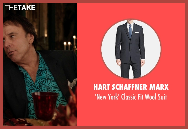 Hart Schaffner Marx gray suit from Blended seen with Kevin Nealon (Eddy)
