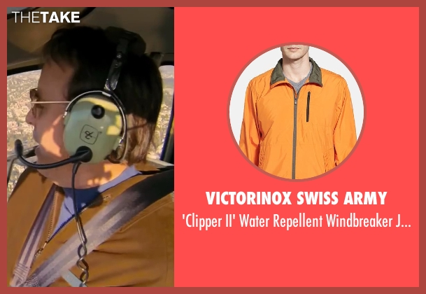 Victorinox Swiss Army orange jacket from Walk of Shame seen with Kevin Nealon (Chopper Steve)