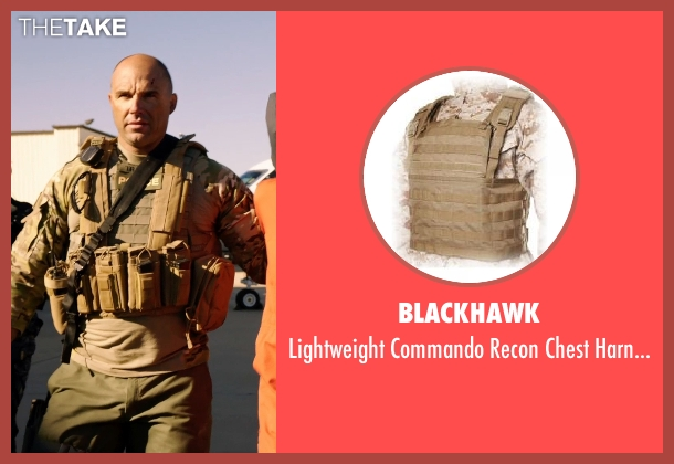 Blackhawk harness from Sabotage seen with Kevin Vance (Bryce 'Tripod' McNeely)
