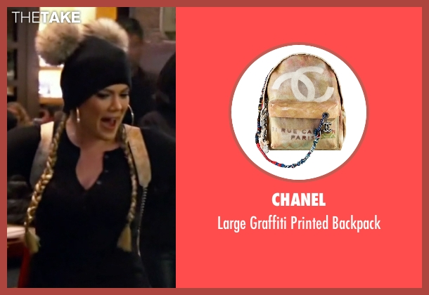 Chanel beige backpack from Keeping Up With The Kardashians seen with Khloe Kardashian
