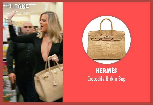 Hermès beige bag from Keeping Up With The Kardashians seen with Khloe Kardashian