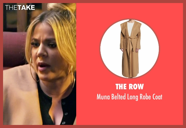 The Row beige coat from Keeping Up With The Kardashians seen with Khloe Kardashian