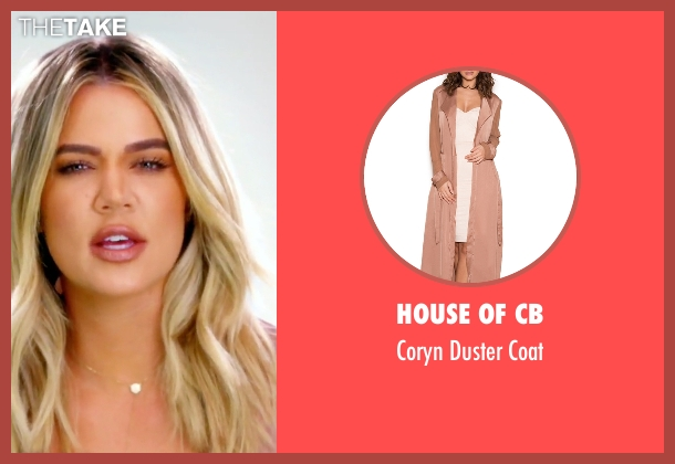 House of CB beige coat from Keeping Up With The Kardashians seen with Khloe Kardashian