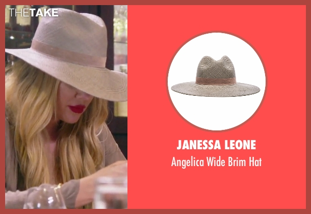 Janessa Leone beige hat from Keeping Up With The Kardashians seen with Khloe Kardashian