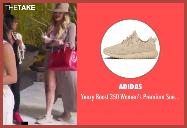 Adidas beige sneakers from Keeping Up With The Kardashians seen with Khloe Kardashian