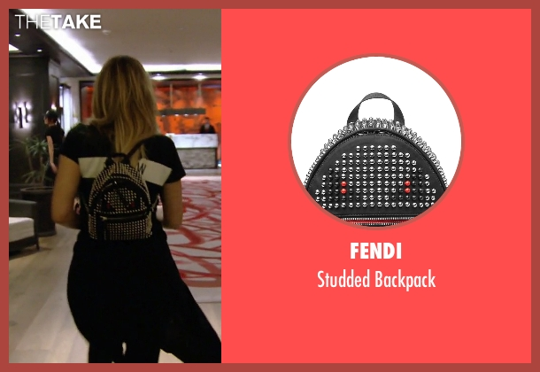 Fendi black backpack from Keeping Up With The Kardashians seen with Khloe Kardashian