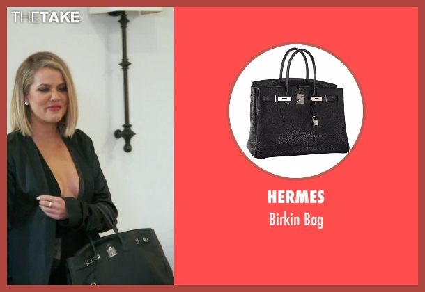 Hermes black bag from Keeping Up With The Kardashians seen with Khloe Kardashian