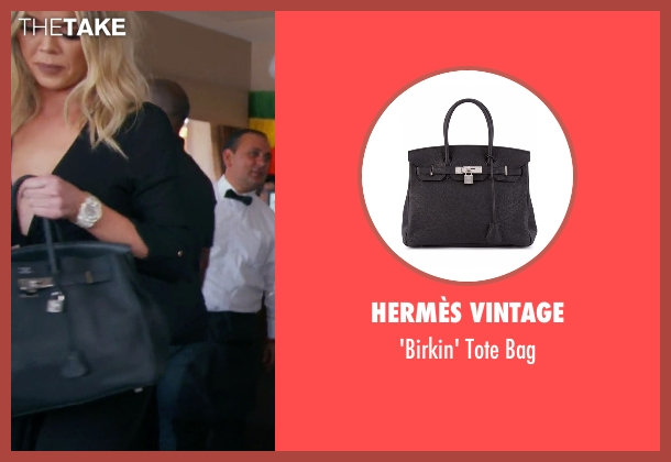 Hermès Vintage black bag from Keeping Up With The Kardashians seen with Khloe Kardashian