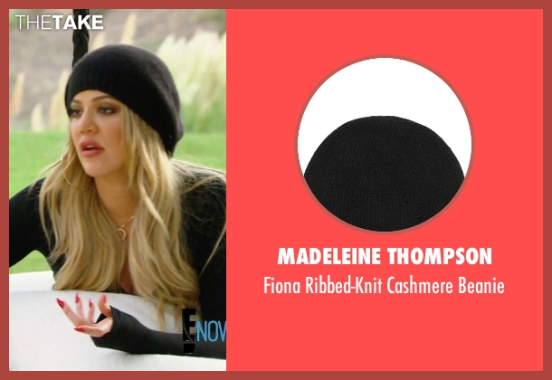 Madeleine Thompson black beanie from Keeping Up With The Kardashians seen with Khloe Kardashian
