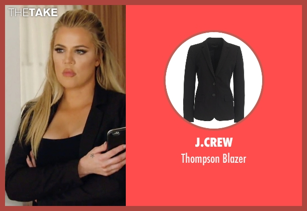 J.Crew black blazer from Keeping Up With The Kardashians seen with Khloe Kardashian