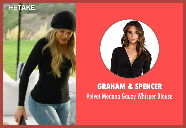Graham & Spencer black blouse from Keeping Up With The Kardashians seen with Khloe Kardashian