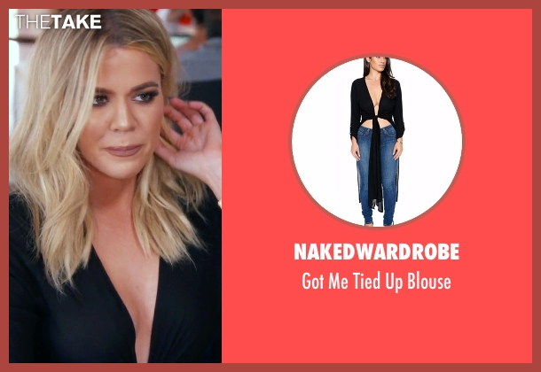 Nakedwardrobe black blouse from Keeping Up With The Kardashians seen with Khloe Kardashian