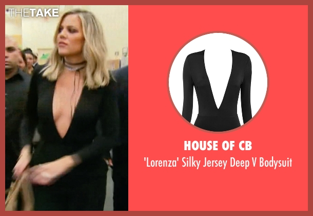 House of CB black bodysuit from Keeping Up With The Kardashians seen with Khloe Kardashian