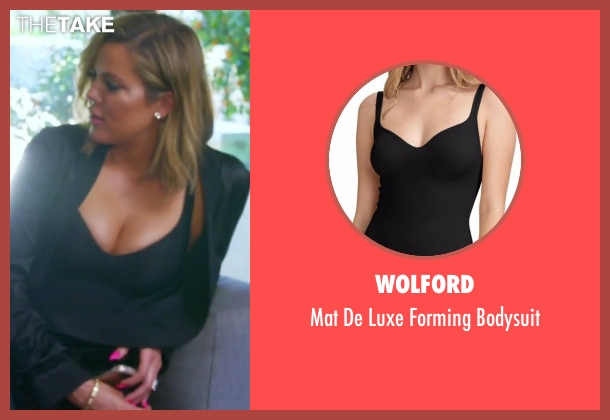 Wolford black bodysuit from Keeping Up With The Kardashians seen with Khloe Kardashian