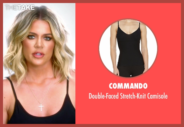 Commando black camisole from Keeping Up With The Kardashians seen with Khloe Kardashian