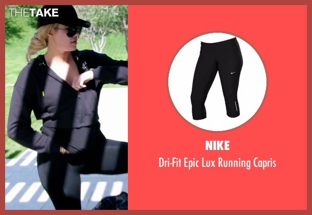 Nike black capris from Keeping Up With The Kardashians seen with Khloe Kardashian