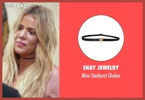 Shay Jewelry black choker from Keeping Up With The Kardashians seen with Khloe Kardashian