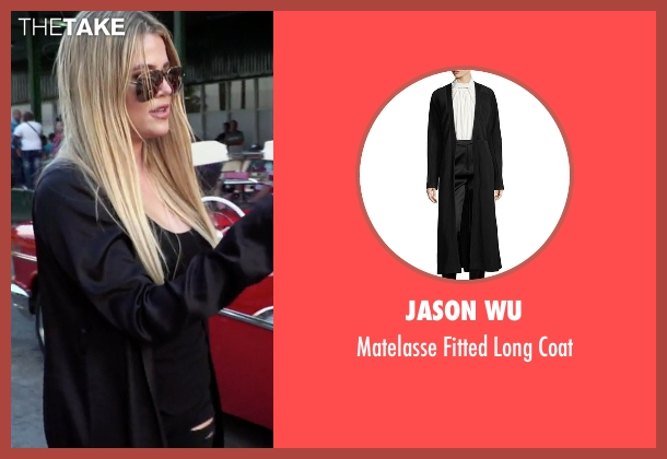 Jason Wu  black coat from Keeping Up With The Kardashians seen with Khloe Kardashian