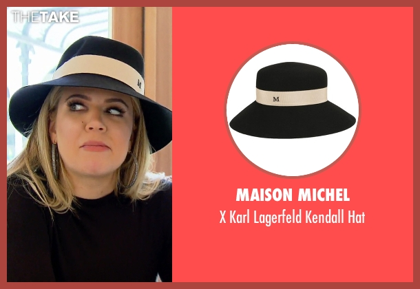 Maison Michel black hat from Keeping Up With The Kardashians seen with Khloe Kardashian