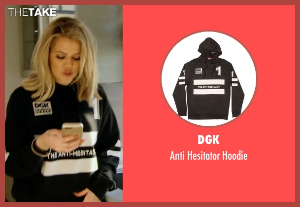 DGK black hoodie from Keeping Up With The Kardashians seen with Khloe Kardashian