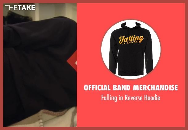 Official Band Merchandise black hoodie from Keeping Up With The Kardashians seen with Khloe Kardashian