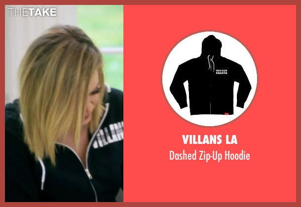 Villans LA black hoodie from Keeping Up With The Kardashians seen with Khloe Kardashian