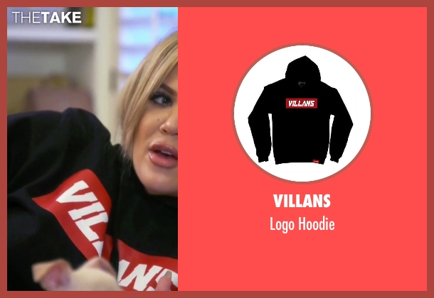 Villans black hoodie from Keeping Up With The Kardashians seen with Khloe Kardashian