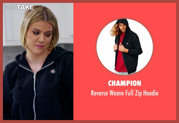 Champion black hoodie from Keeping Up With The Kardashians seen with Khloe Kardashian