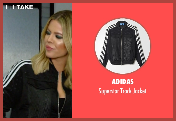Adidas black jacket from Keeping Up With The Kardashians seen with Khloe Kardashian