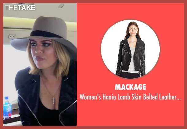 Mackage black jacket from Keeping Up With The Kardashians seen with Khloe Kardashian