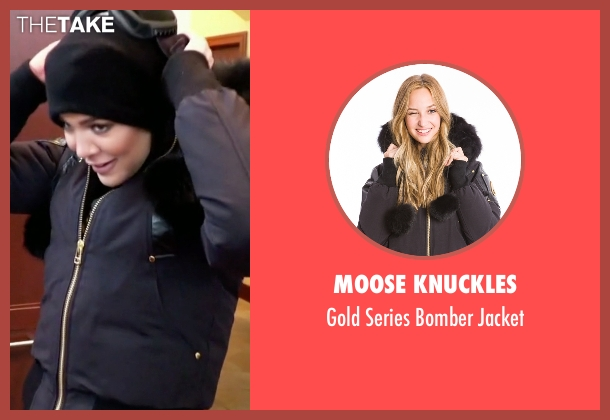Moose Knuckles black jacket from Keeping Up With The Kardashians seen with Khloe Kardashian