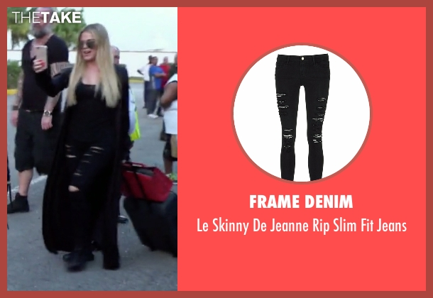 Frame Denim black jeans from Keeping Up With The Kardashians seen with Khloe Kardashian