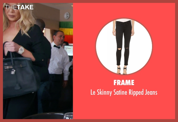 Frame black jeans from Keeping Up With The Kardashians seen with Khloe Kardashian