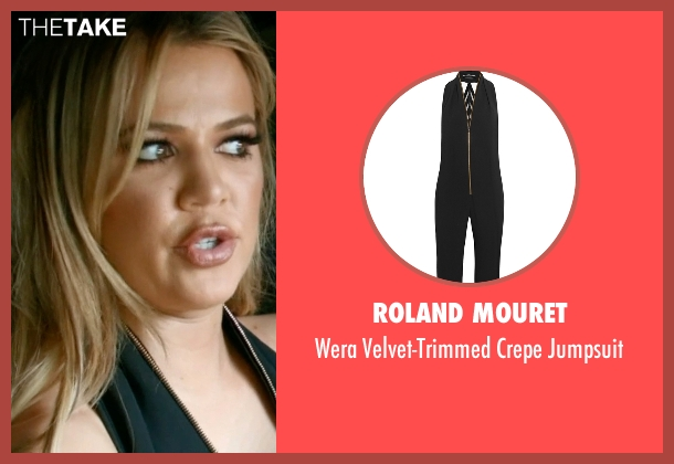 Roland Mouret black jumpsuit from Keeping Up With The Kardashians seen with Khloe Kardashian