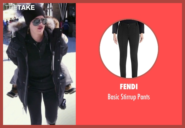 Fendi black pants from Keeping Up With The Kardashians seen with Khloe Kardashian
