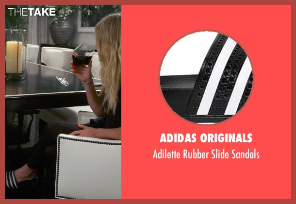 Adidas Originals black sandals from Keeping Up With The Kardashians seen with Khloe Kardashian
