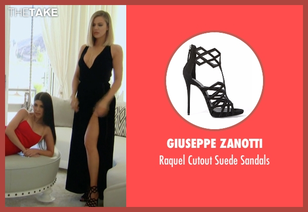 Giuseppe Zanotti black sandals from Keeping Up With The Kardashians seen with Khloe Kardashian
