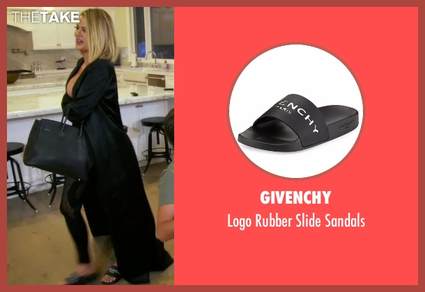 Givenchy black sandals from Keeping Up With The Kardashians seen with Khloe Kardashian