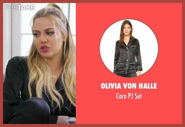 Olivia von Halle black set from Keeping Up With The Kardashians seen with Khloe Kardashian