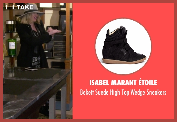 Isabel Marant Étoile black sneakers from Keeping Up With The Kardashians seen with Khloe Kardashian