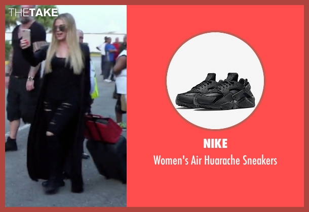 Nike black sneakers from Keeping Up With The Kardashians seen with Khloe Kardashian