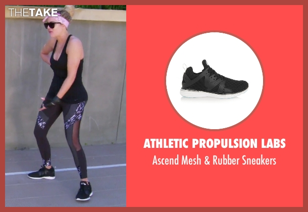 Athletic Propulsion Labs black sneakers from Keeping Up With The Kardashians seen with Khloe Kardashian