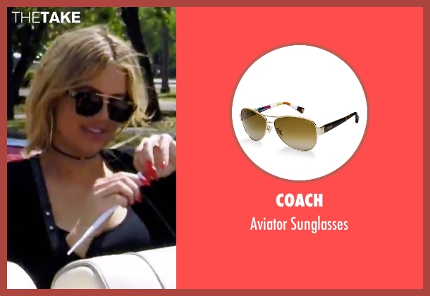 Coach black sunglasses from Keeping Up With The Kardashians seen with Khloe Kardashian