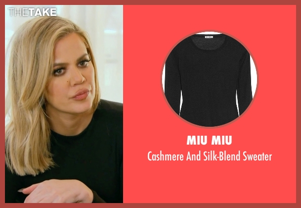 Miu Miu black sweater from Keeping Up With The Kardashians seen with Khloe Kardashian