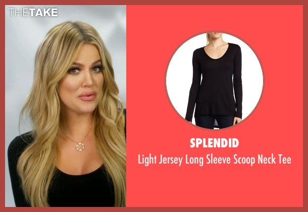 Splendid black tee from Keeping Up With The Kardashians seen with Khloe Kardashian