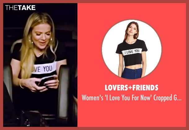 Lovers+Friends black tee from Keeping Up With The Kardashians seen with Khloe Kardashian