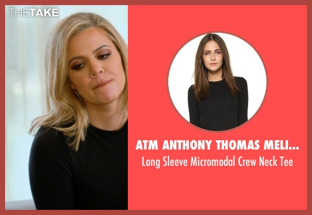 ATM Anthony Thomas Melillo black tee from Keeping Up With The Kardashians seen with Khloe Kardashian