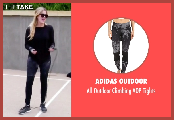 Adidas Outdoor black tights from Keeping Up With The Kardashians seen with Khloe Kardashian